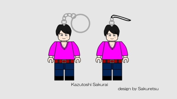 Lego Cuusoo Mr. Children Mobile Strap (c) Sakuretune